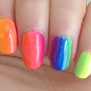 Ombre Rainbow Nail