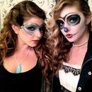 sugar skull and masquerade mask