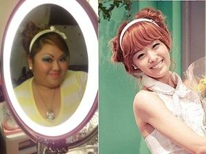 Did a 4 in 1 Korean hair style look =)