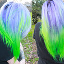 Purpleish To Green Hair
