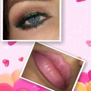 neutral with green pop