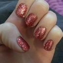 Full cover glitter/precious stones