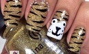 Easy Tiger Print Nail Tutorial by The Crafty Ninja