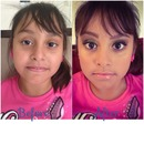 My lil sis pageant makeup