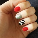 Red and chevron