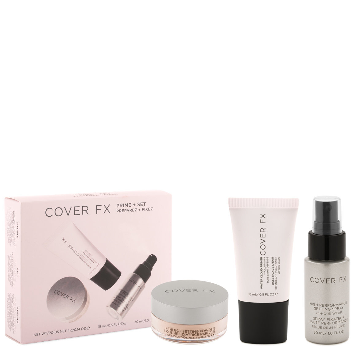 Cover FX Prime + Set Complexion Kit product smear.