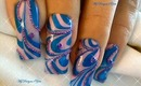 Water Marble Effect Nail Art Design Tutorial, Blue & Pink, + Tips - ♥ MyDesigns4You ♥