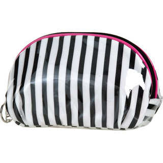 ULTA Black & White Stripe Cosmetic Bag