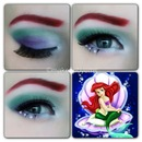 Disney Ariel makeup look
