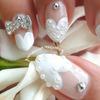 Heart French Manicure ❤ Wedding Stilettos