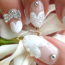 Heart French Manicure ❤ Wedding Stilettos