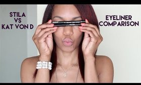 Stila vs. Kat Von D | Eyeliner Comparison