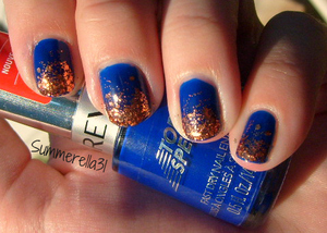 Revlon Top Speed Royal and Finger Paints Fall of Surprises gradient