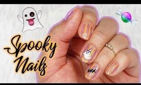 Spooky Minimal Nail Art   Halloween Nails 2017 ♡