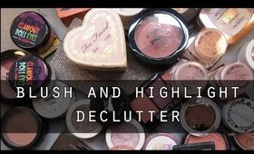 BLUSH AND HIGHLIGHTER DECLUTTER