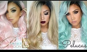 Pelucas POWDER ROOM D Primera Impresion (3 modelos) / 3 NEW WIGS (swatches) | auroramakeup