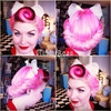 Vintage Pin Up Pink Hair