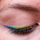 Rainbow Eyeliner for my friends going away party