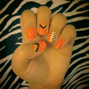 Orange Tribal Nails