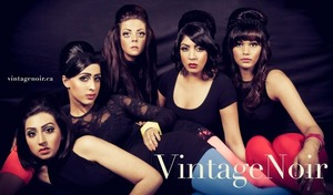 Hair and Makeup by Vintage Noir.  Photography by Flashing Lights
