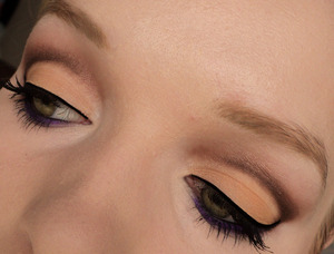 This is my first attempt at a cut-crease look.