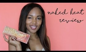 Most Lit Palette of 2017!! Urban Decay Naked Heat Palette Review alishainc