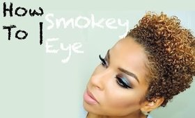 How To | Smokey Eye With Blue Brown Pigment