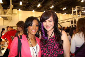Missy and I at IMATS! She's so gorgeous!