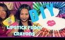 DIY - How To Make Lipstick From Crayons