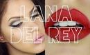 ♡ Lana Del Rey / Pin Up Girl Inspired Makeup  - Cut Crease w/ Nude & Red Lip ♡