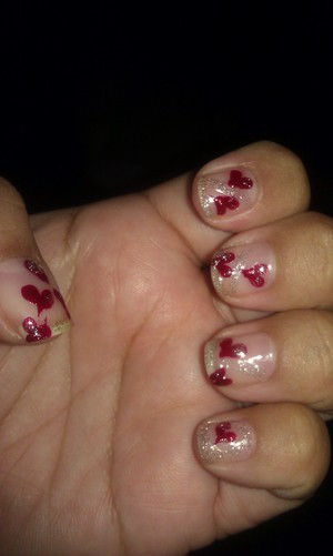 Valentines Day Heart Nails...
