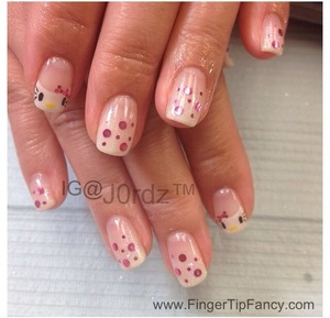 FOR DETAIL CLICK BELOW: http://fingertipfancy.com/hello-kitty-french-nails
