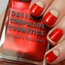 #31DC2013: Vintage inspired Red Nails with OCC