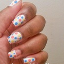 Matte Polka Dot Manicure