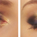 Blue and gold make up