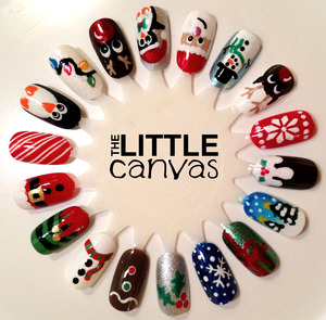 Merry Christmas! http://www.thelittlecanvas.com/2013/12/christmas-nail-art-wheel.html