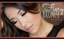 Fiery Bronze 🍂🍁 Perfect for Thanksgiving! Fall Eye Makeup Tutorial ♡ hollyannaeree