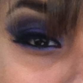 Purple glitter eyeshadow