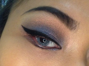 Deep truth (on lid), Reflex Blue (on crease), Lumi (highlight) and 77 gel liner.