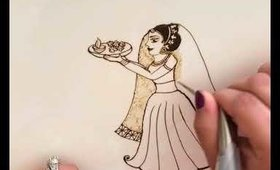 Mehndi Monday: Demonstration of a Dulhan with Thali