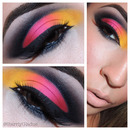 Yellow + Pink Cut-Crease