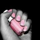Pink nail polish with sugar
