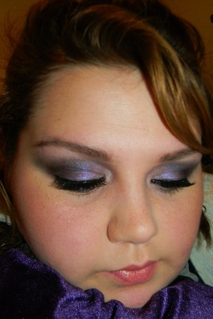 Purple smokey eye look...I really like how this turned out!
