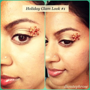 This look is great for either Christmas or New Years, plus it is very simple to recreate!