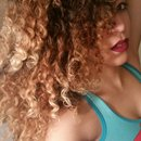 Natural curls.
