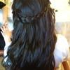 Waterfall braid with curlz