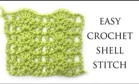 Easy Crochet Shell Stitch