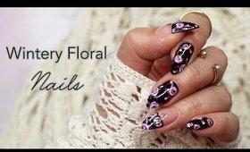 Winter Floral Nail Art ♡