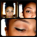 Black and green winged Liner