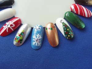 a few of the christmas nail designs from my nail wheel!